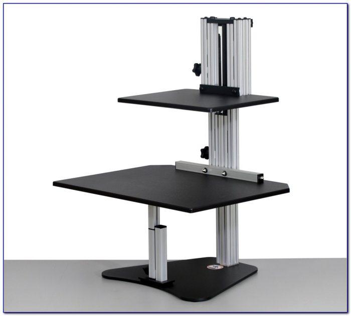 Stand Up Desk Adjustable Keyboard Riser Desk Home