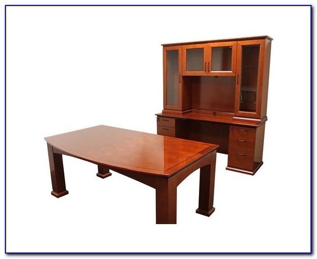 Kimball Executive Desk And Credenza Desk Home Design