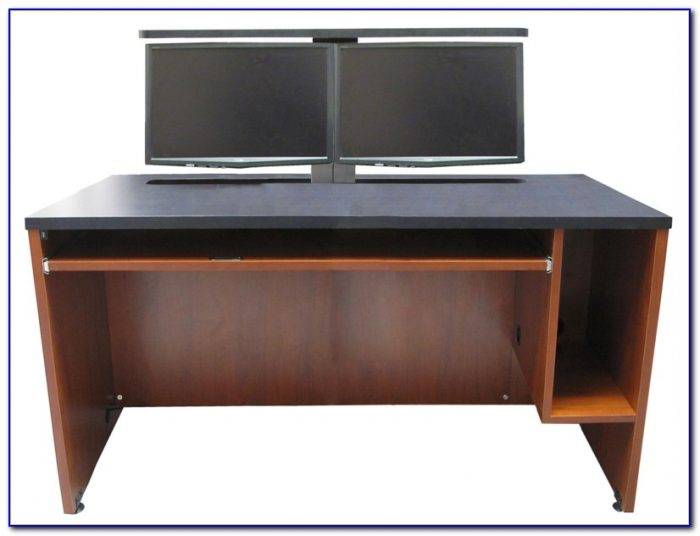 Good Desks For Multiple Monitors Desk Home Design