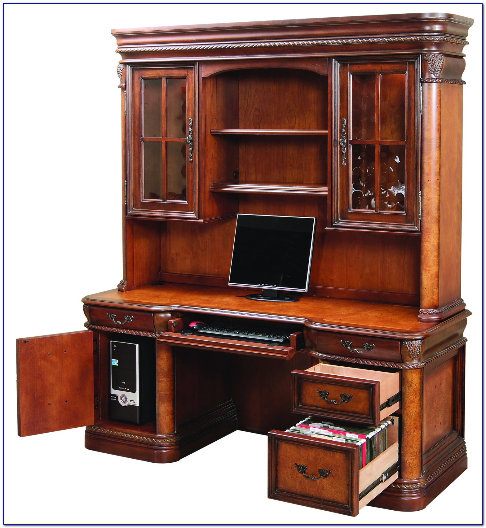 L Shaped Office Desk With Credenza