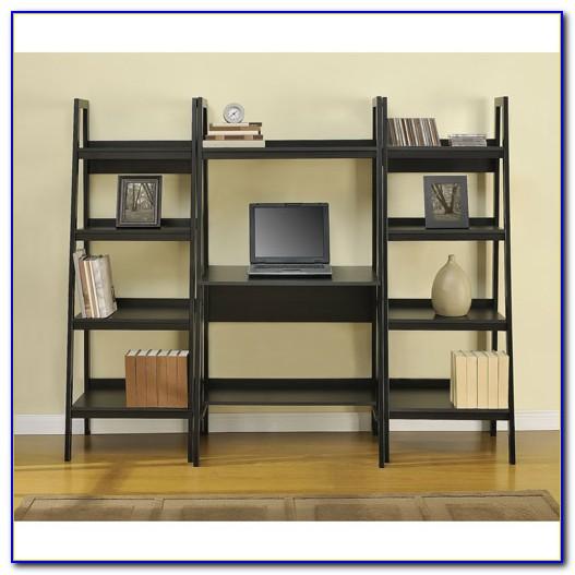 Ladder Shelf With Computer Desk