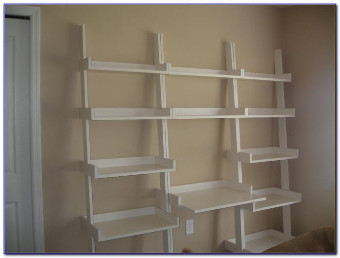 Ladder Shelves With Desk