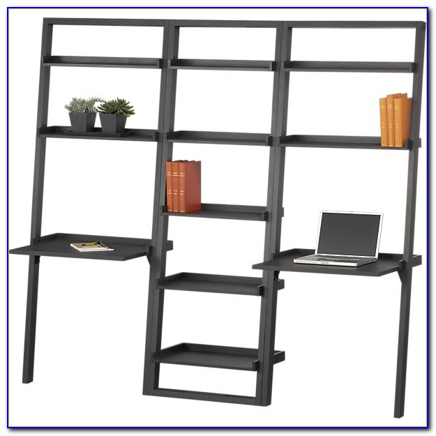 Leaning Bookshelf Desk Crate Barrel