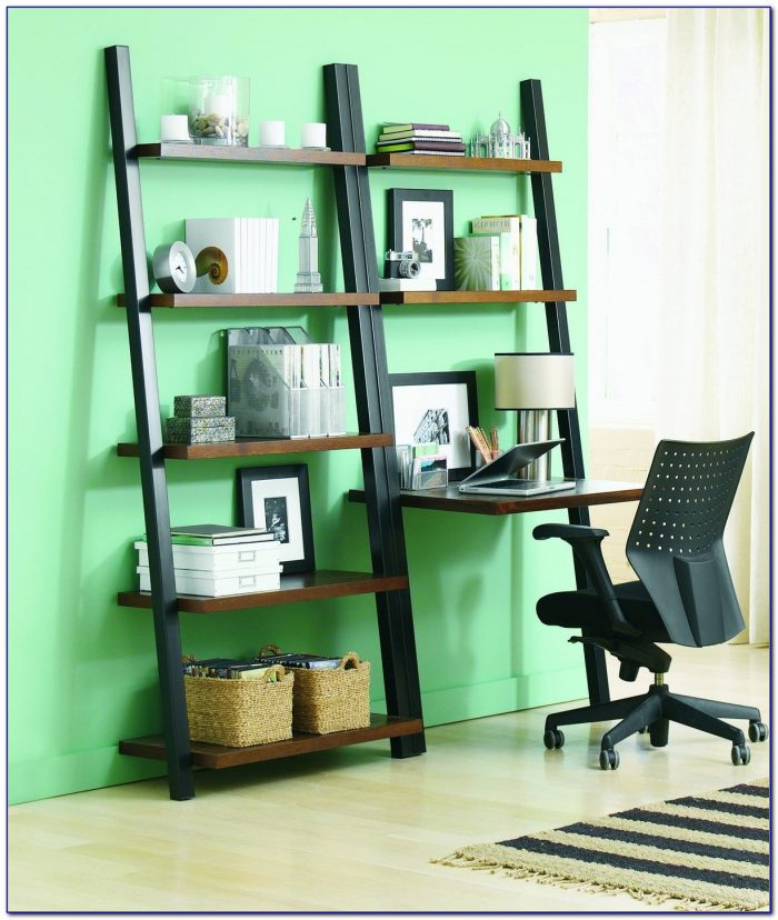 Leaning Bookshelf Desk Plans