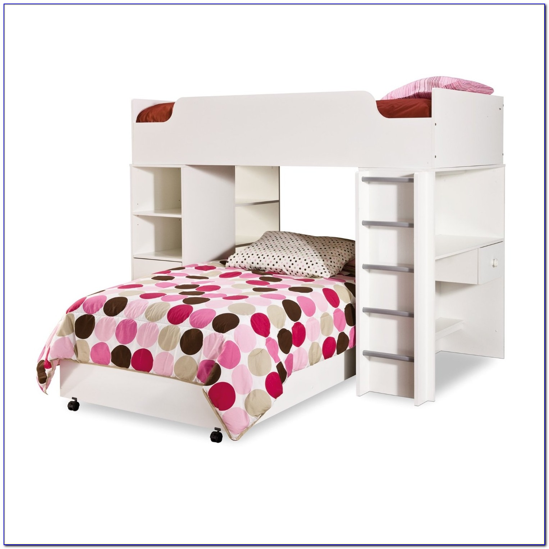 Metal Loft Bed With Desk And Futon Desk Home Design