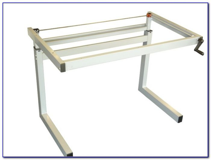 Manual Height Adjustable Desk Frame
