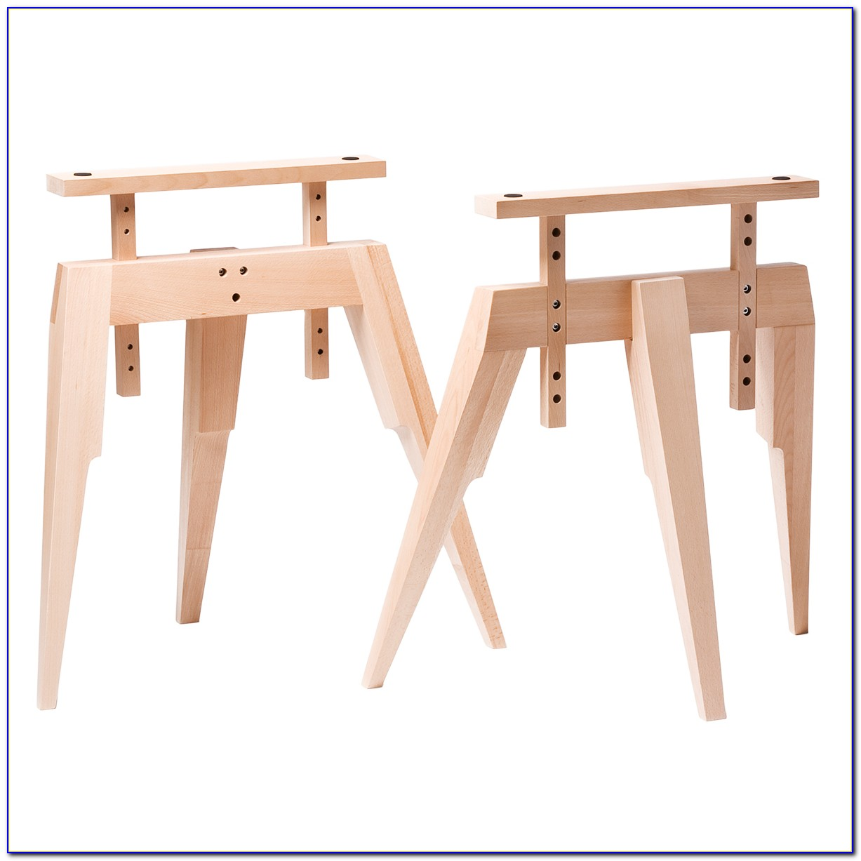 Metal sawhorse legs for desk desk home design ideas Sawhorse desk legs
