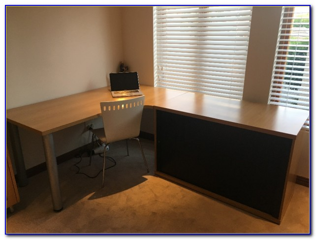 Office Desk With Matching Credenza