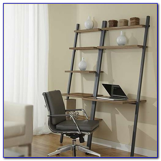Office Desk With Shelves Above