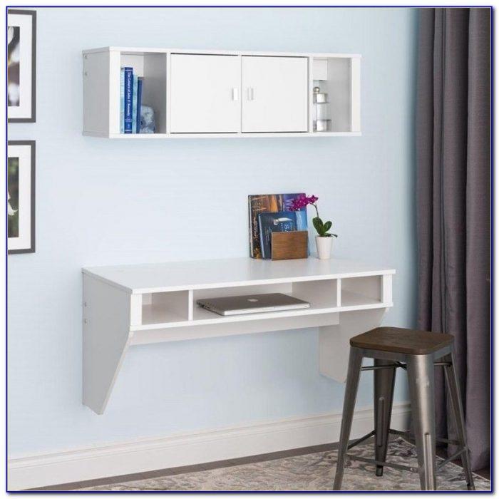 Prepac Designer Floating Desk With Hutch Desk Home