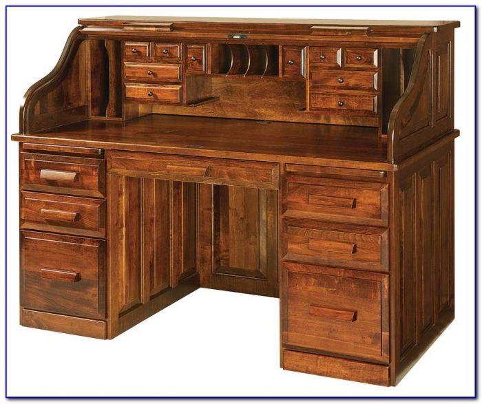 Roll Top Computer Desk Oak Desk Home Design Ideas