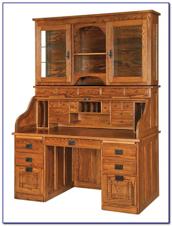 Roll Top Computer Desk Hutch Desk Home Design Ideas