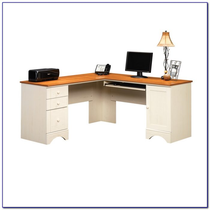 Sauder Antique White Computer Desk
