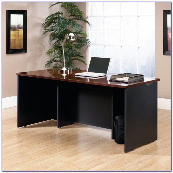 Sauder Appleton Faux Marble Top Executive Desk