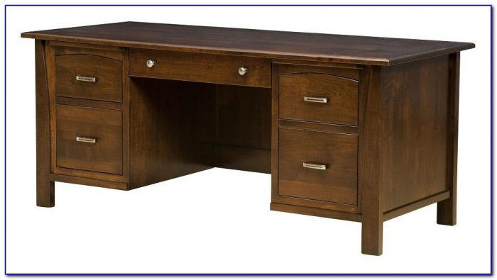 Small Solid Wood Home Office Desk