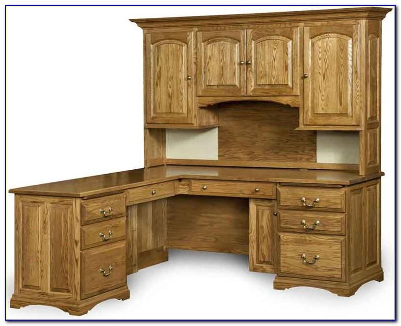 Solid Oak L Shaped Desk With Hutch Desk Home Design