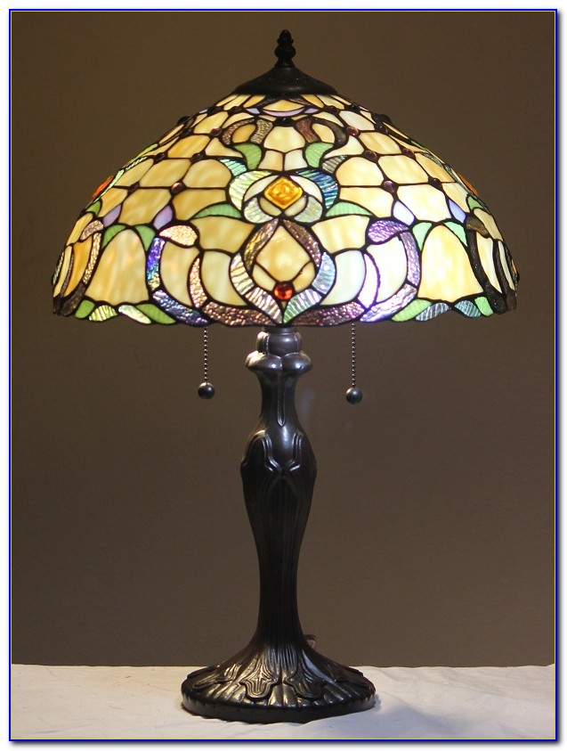 Stained Glass Bankers Desk Lamp