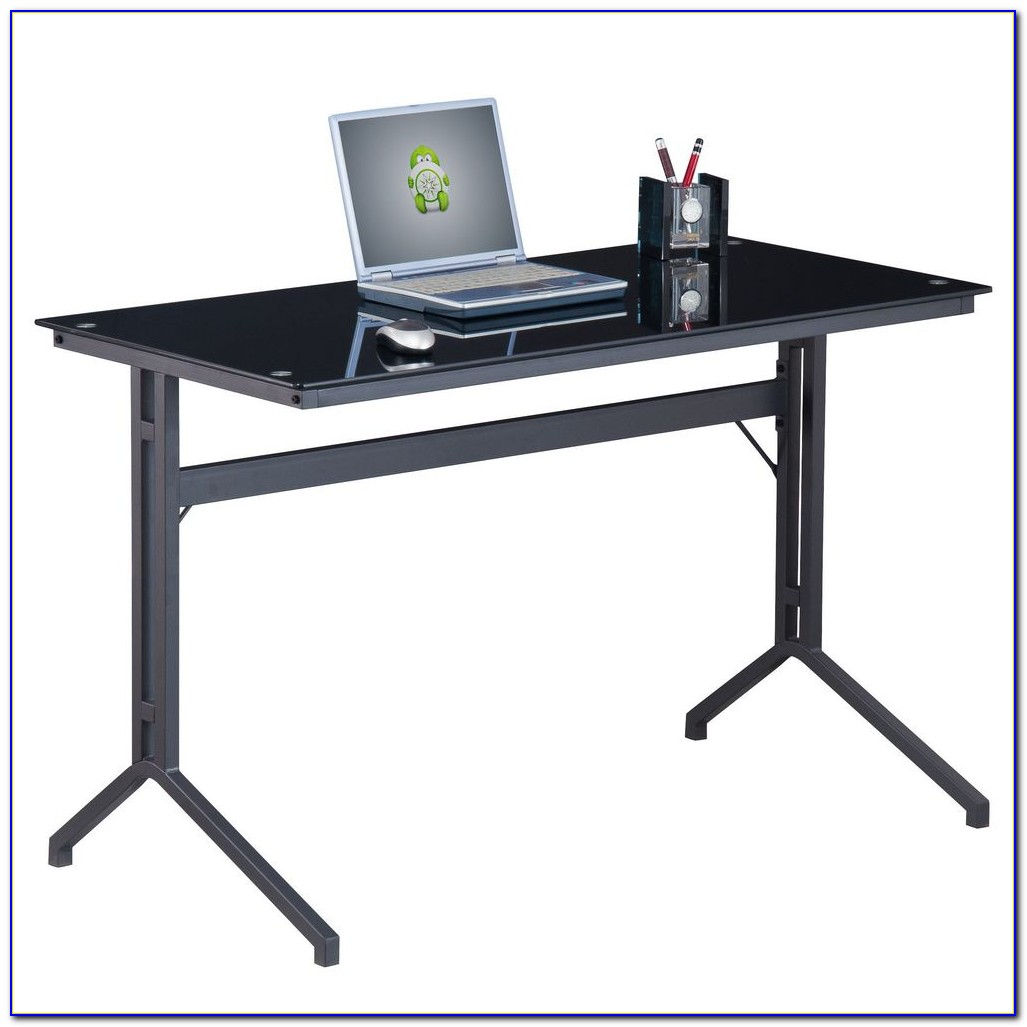 Staples black glass computer desk desk home design Designer glass computer desk