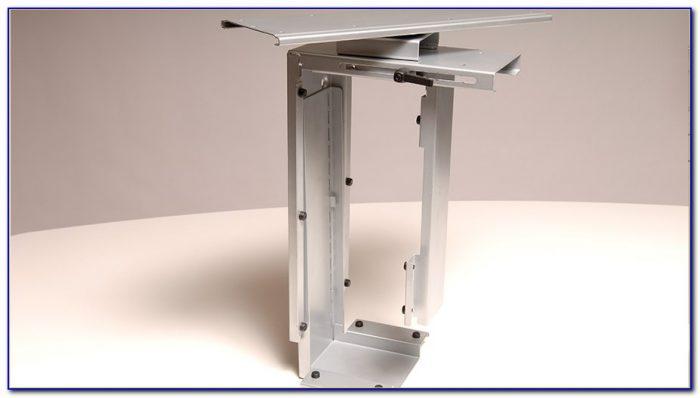 Stationary Cpu Holder Under Desk Mount