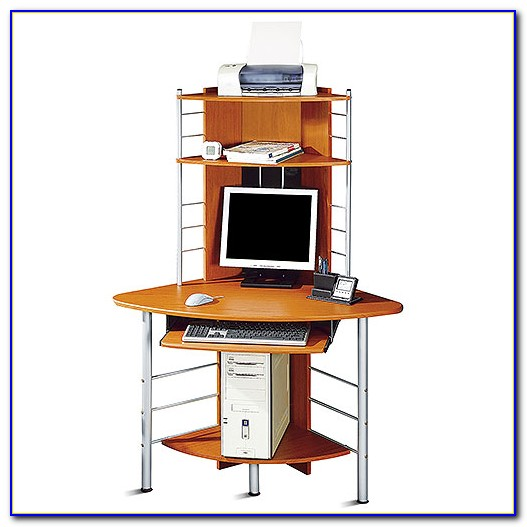 Techni Mobili Corner Tower Computer Desk