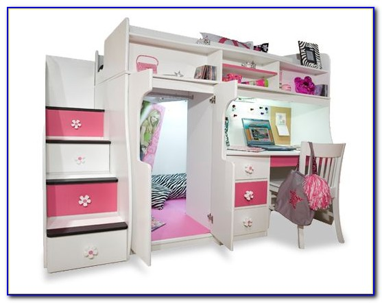 Teenage Girl Loft Bed With Desk