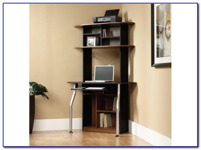 Tower Corner Wood Computer Desk