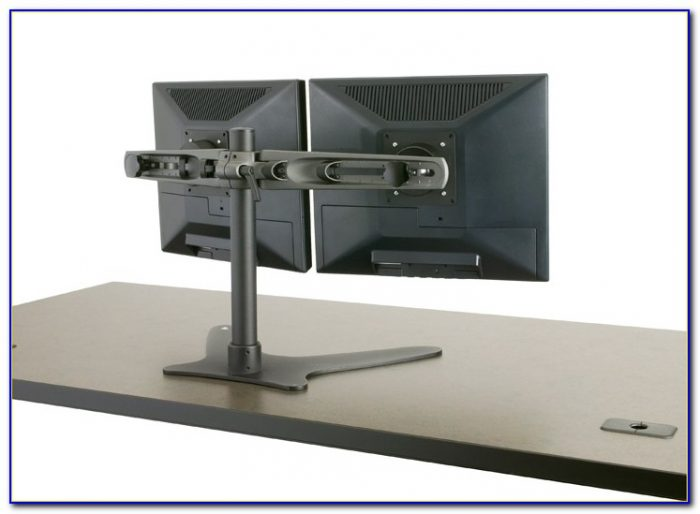 Triple Monitor Freestanding Desk Mount