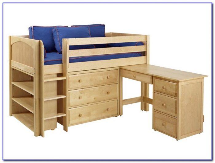 Twin Loft Bed With Desk Plans Desk Home Design Ideas