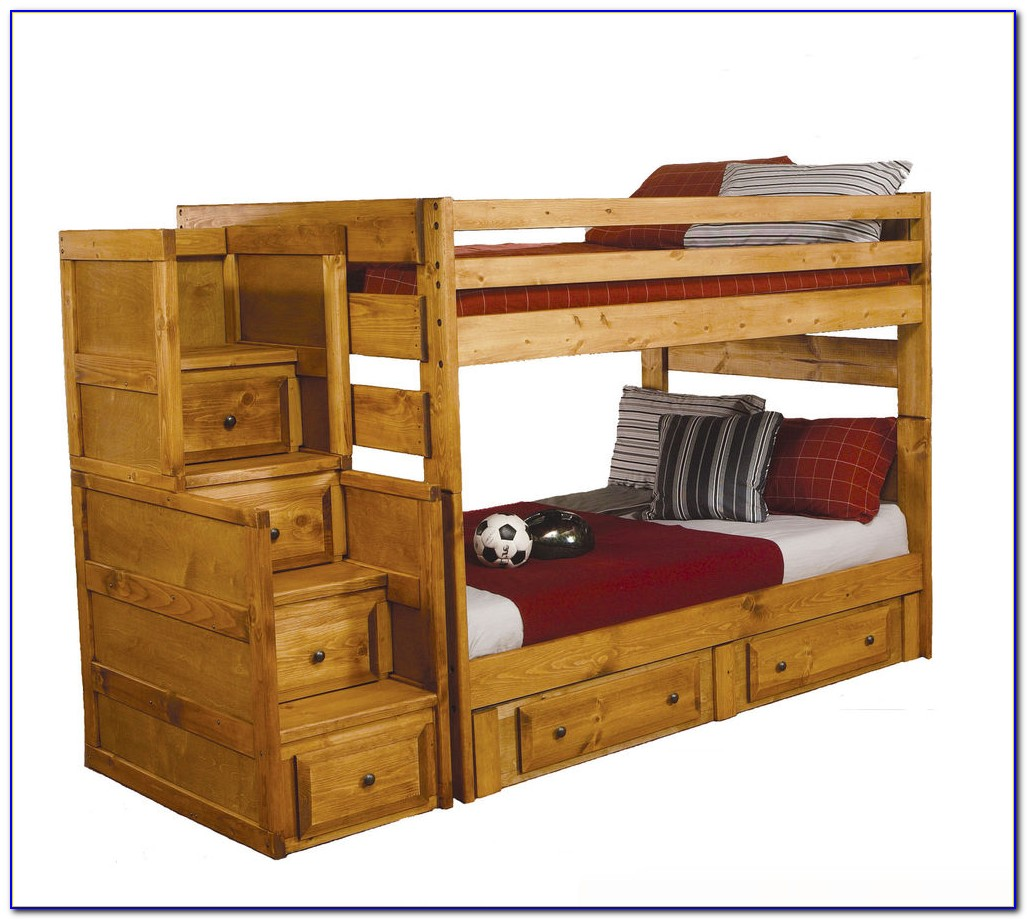 Twin Over Full Bunk Bed With Trundle And Desk Desk