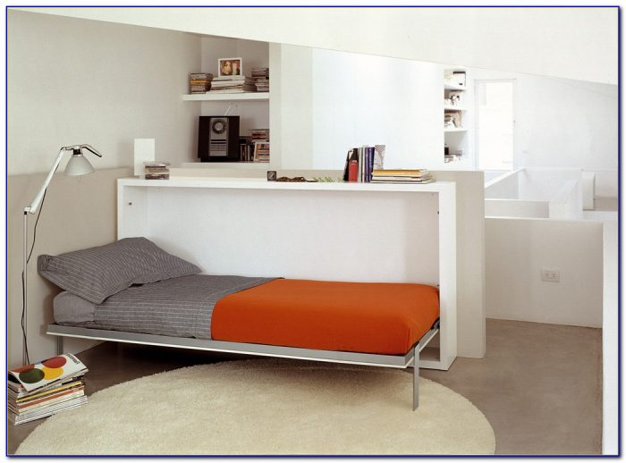 Twin Size Murphy Bed With Desk