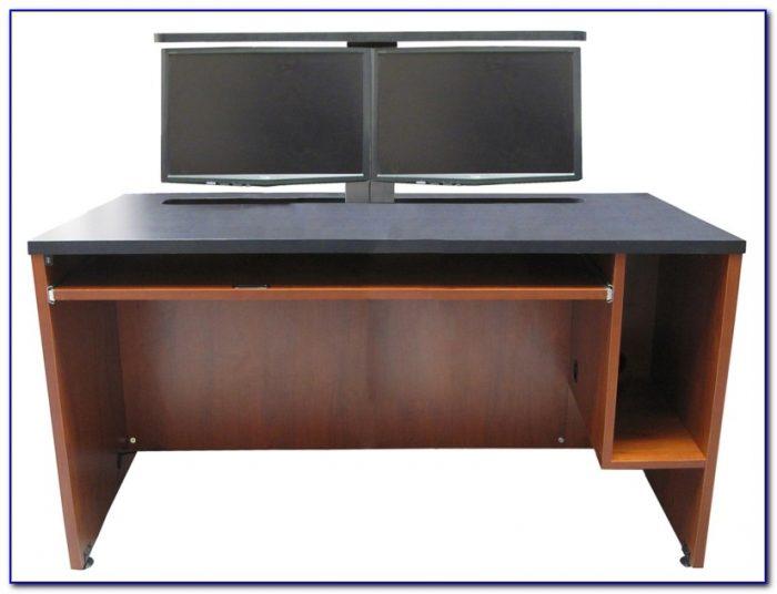 Multi Monitor Computer Desks Desk Home Design Ideas