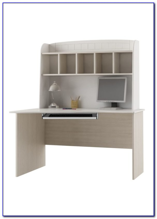 White Corner Desk With Shelves
