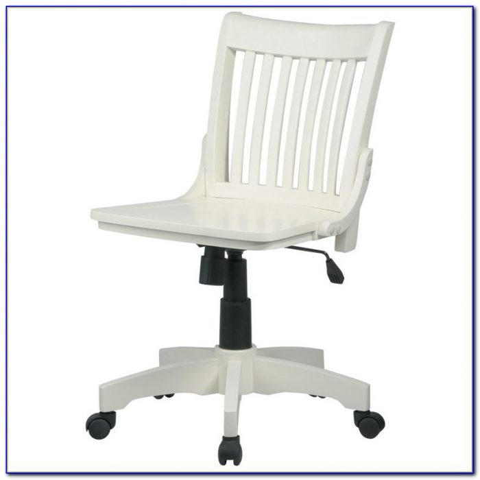 Deluxe Armless Wood Bankers Desk Chair Desk Home