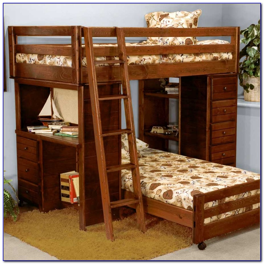 Wooden Bunk Beds With Drawers And Desk Desk Home
