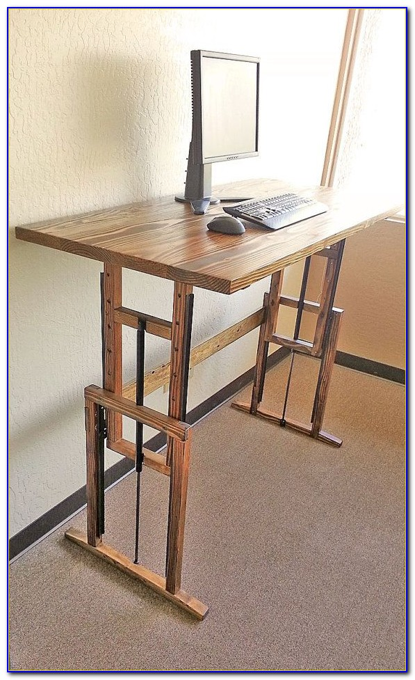 Build Your Own Adjustable Standing Desk Converter Desk