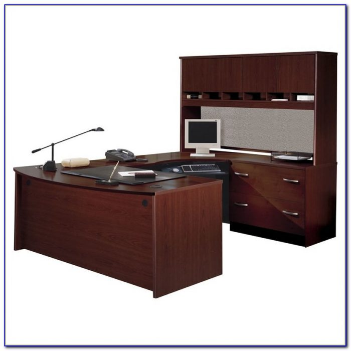 Bush U Shaped Desk With Hutch Desk Home Design Ideas