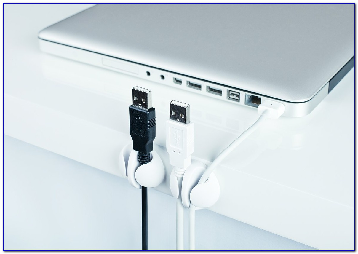 Cable Organizer For Glass Desk