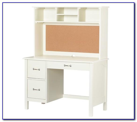 Childrens Desk And Hutch White