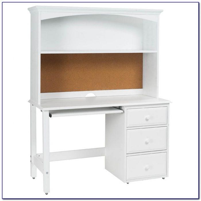 Childrens Desk With Hutch White