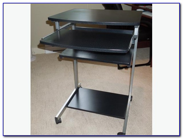 Computer Desk On Wheels With Top Shelf