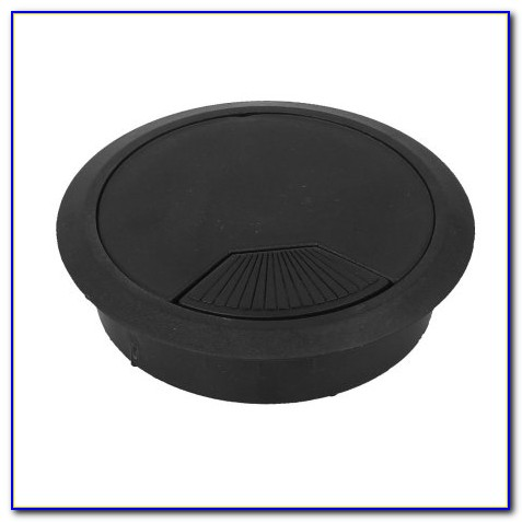 Computer Desk Table Grommet Cable Wire Hole Plastic Cover Black