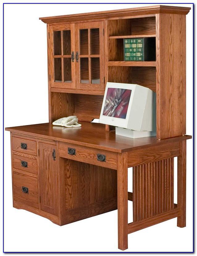 Computer Hutch Desk With Doors Desk Home Design Ideas