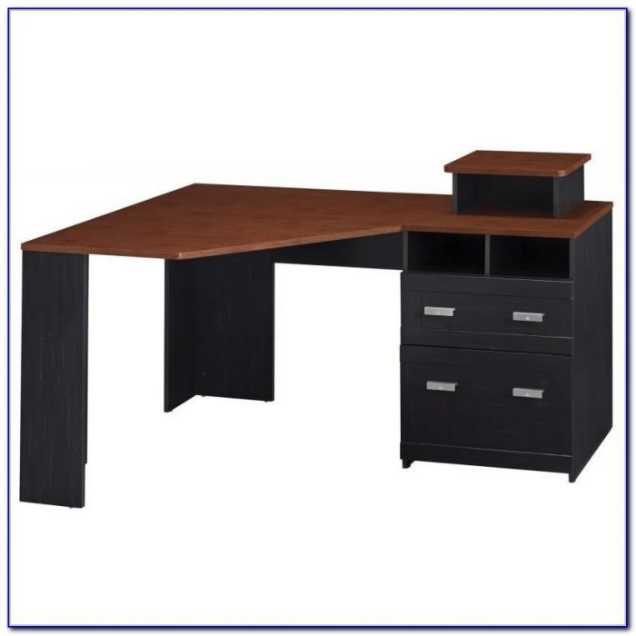 Corner Desk Cherry Wood