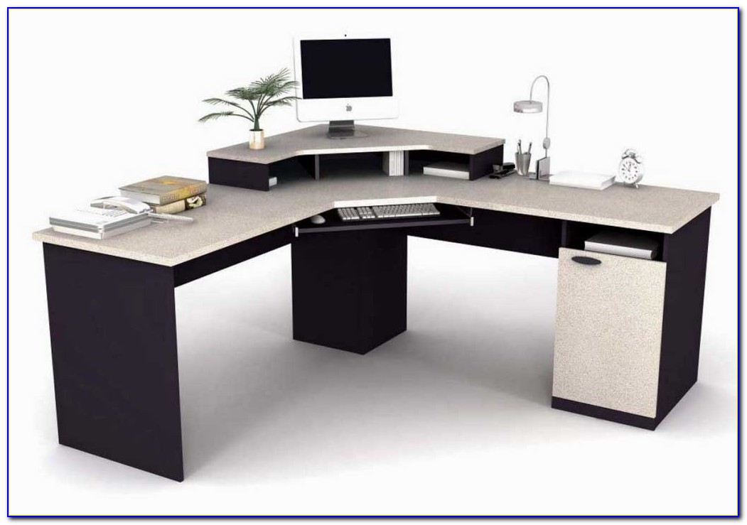 Corner desk home office furniture desk home design for Home office corner desk ideas