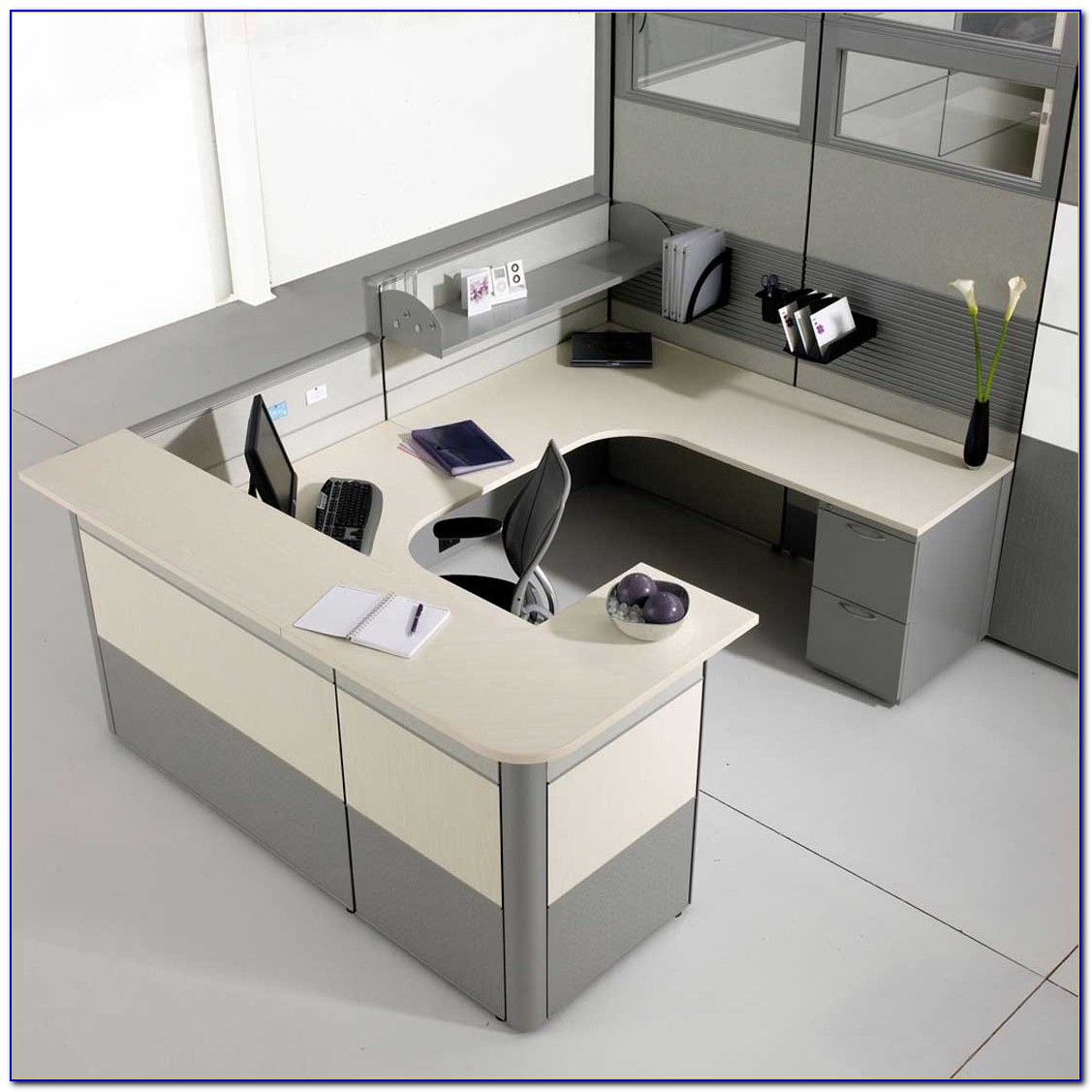 Modular Home Office Furniture Designs Ideas Plans: Corner Desk Modular Office Furniture