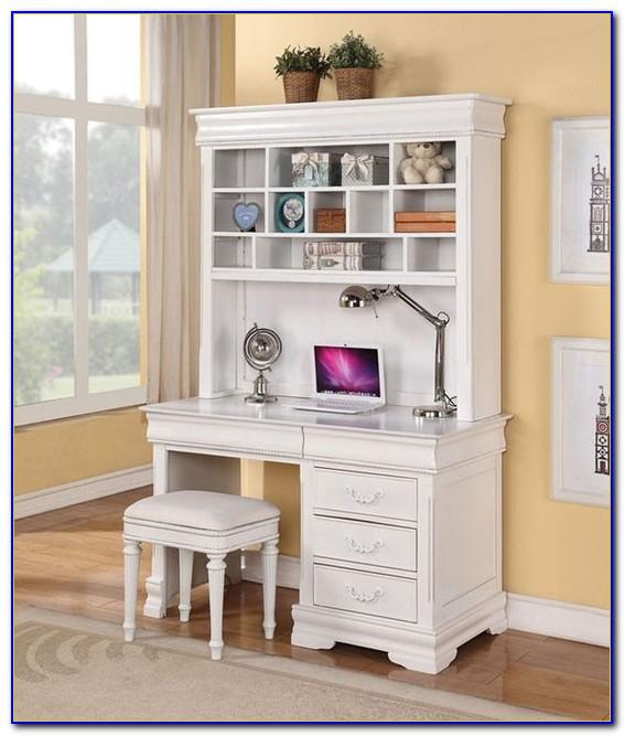 White Girls Desk With Hutch Desk Home Design Ideas