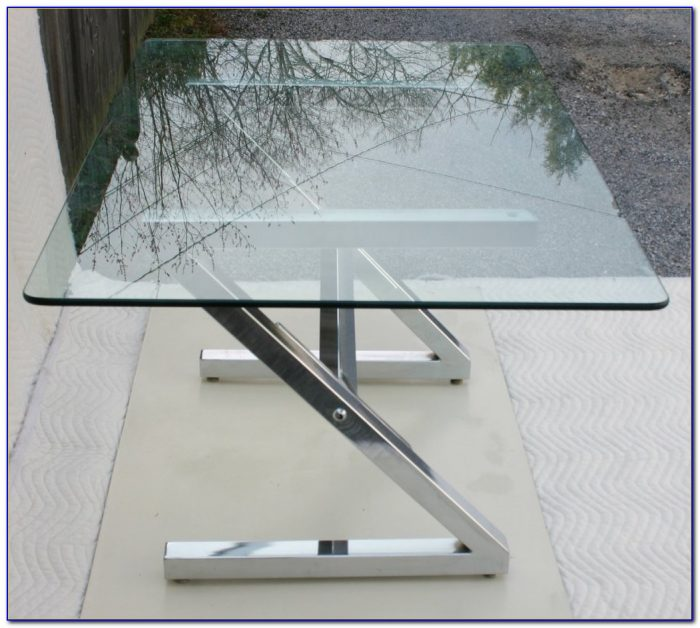 Glass And Chrome Office Desk Desk Home Design Ideas