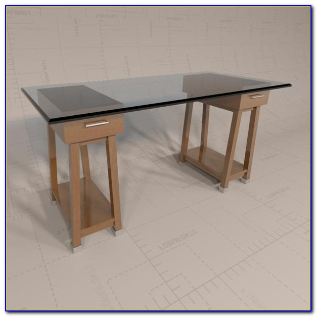 Sawhorse legs for table desk home design ideas Sawhorse desk legs