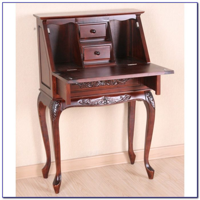 Southern Enterprises Hand Carved Secretary Desk Desk