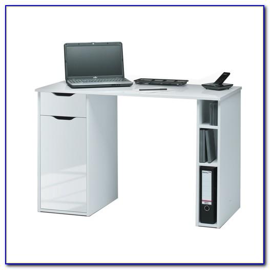 High Gloss Computer Desk Black